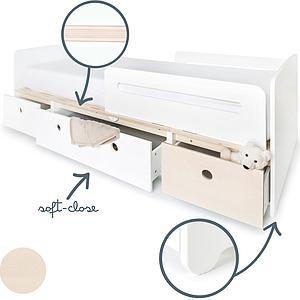 Cama evolutiva 90x200cm COLORFLEX white-white-white wash