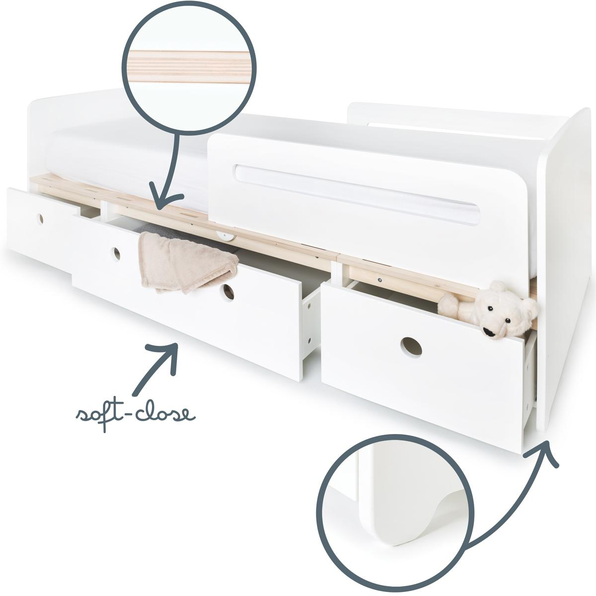 Cama evolutiva 90x200cm COLORFLEX white