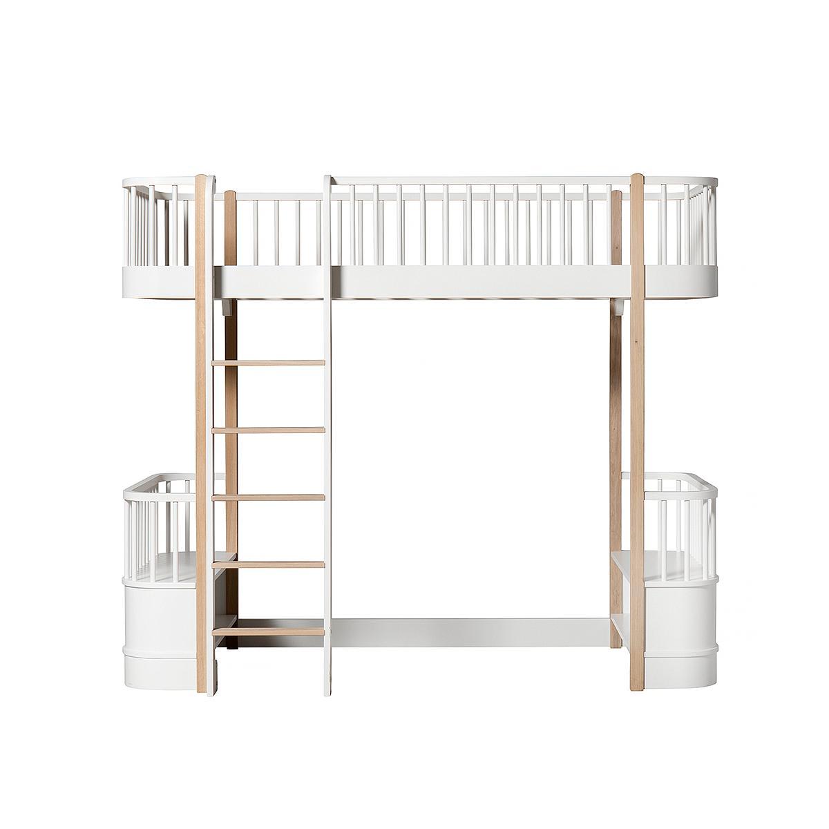 Cama evolutiva alta 90x200cm WOOD ORIGINAL Oliver Furniture blanco-roble