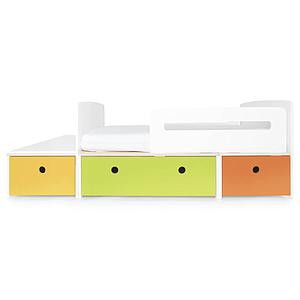 Cama evolutiva infantil 90x150/200cm COLORFLEX nectar yellow-lime-pure orange