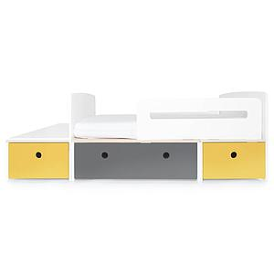Cama evolutiva infantil 90x150/200cm COLORFLEX nectar yellow-space grey-nectar yellow
