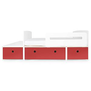 Cama evolutiva infantil 90x150/200cm COLORFLEX true red