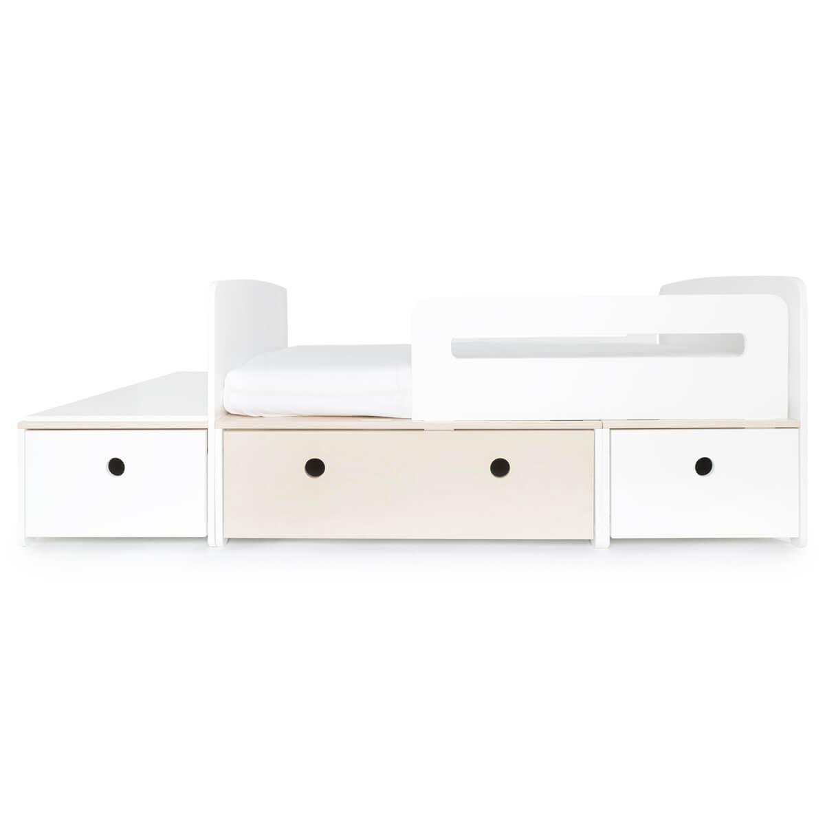 Cama evolutiva infantil 90x150/200cm COLORFLEX white-white wash-white