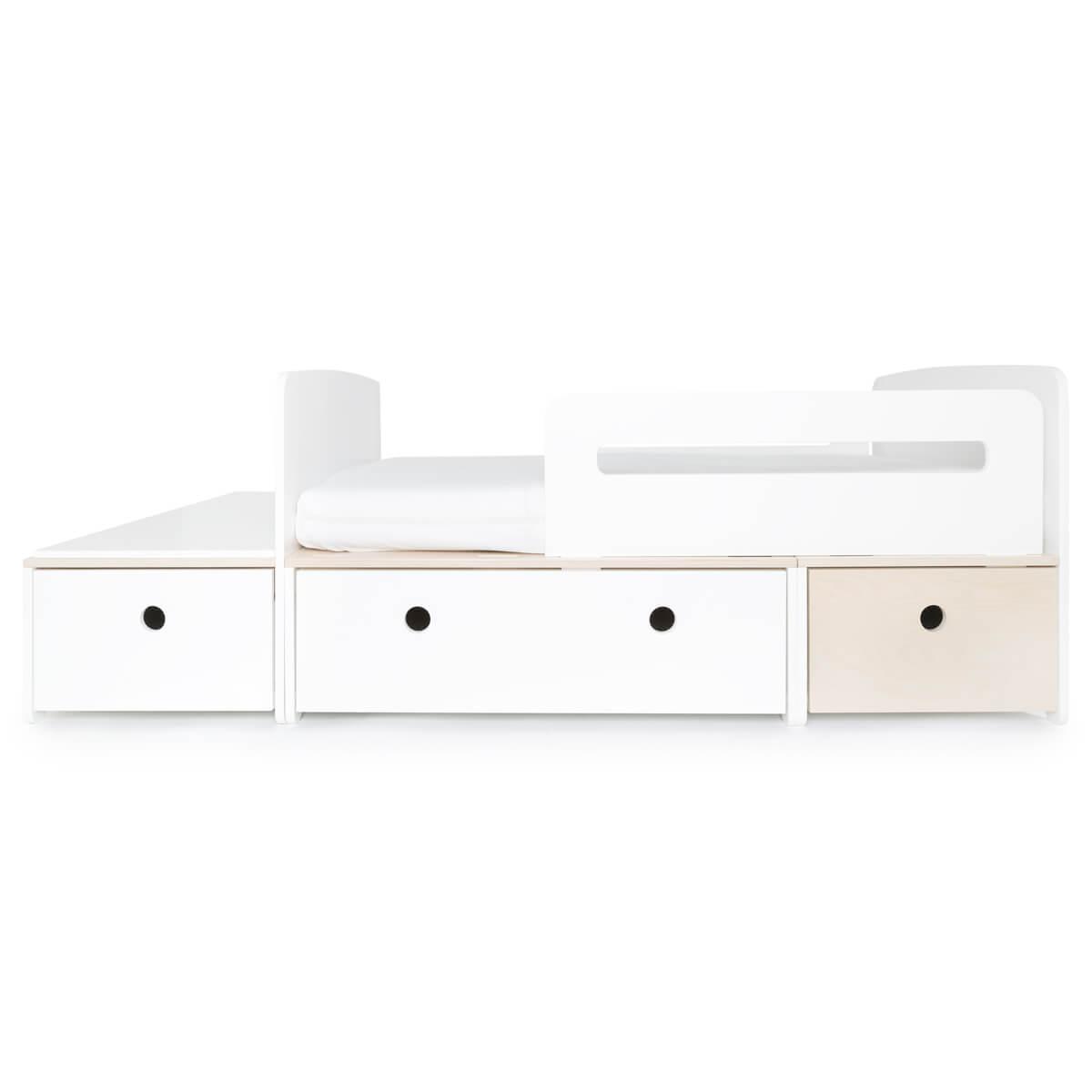Cama evolutiva infantil 90x150/200cm COLORFLEX white-white-white wash