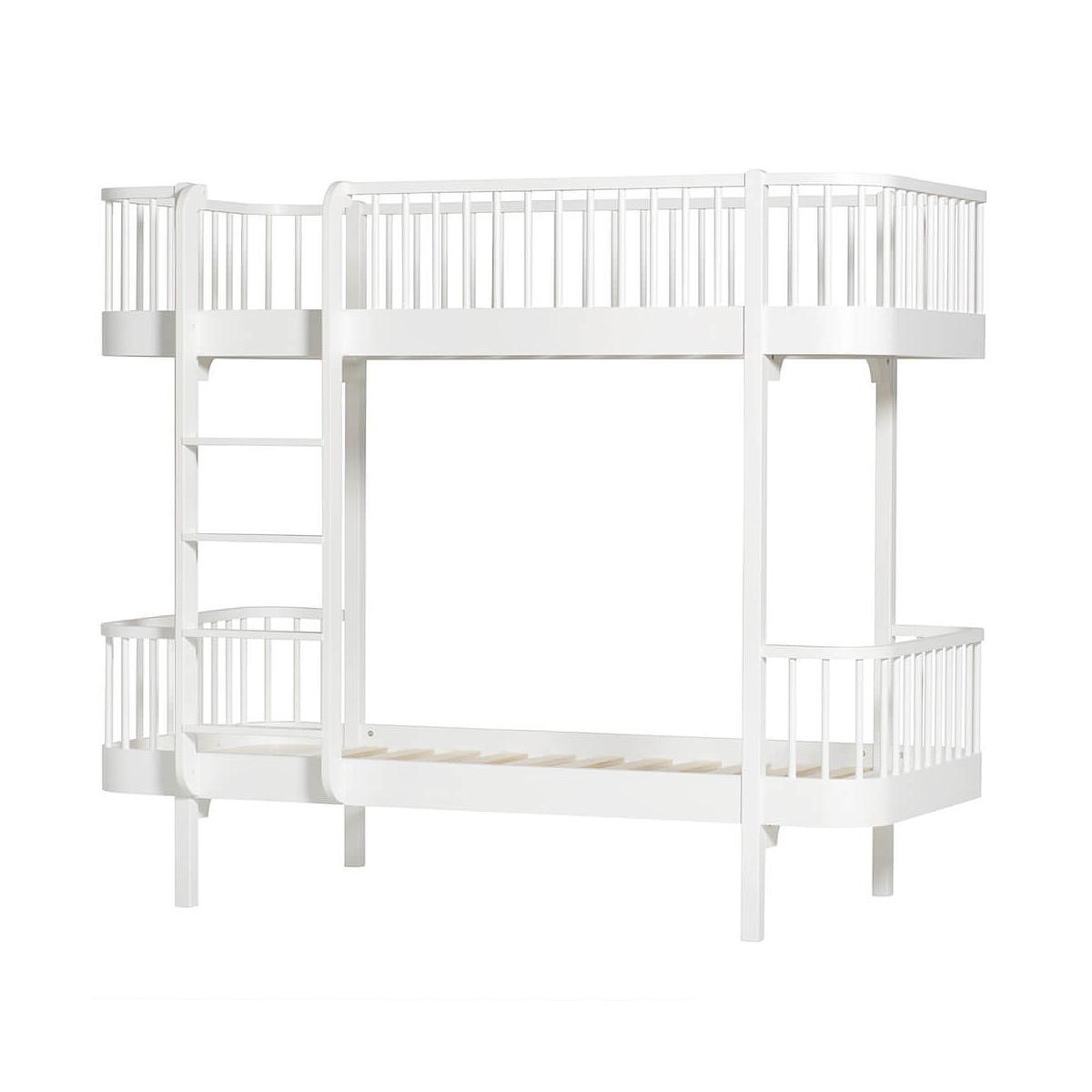 Cama evolutiva literas 90x200cm WOOD ORIGINAL Oliver Furniture blanco