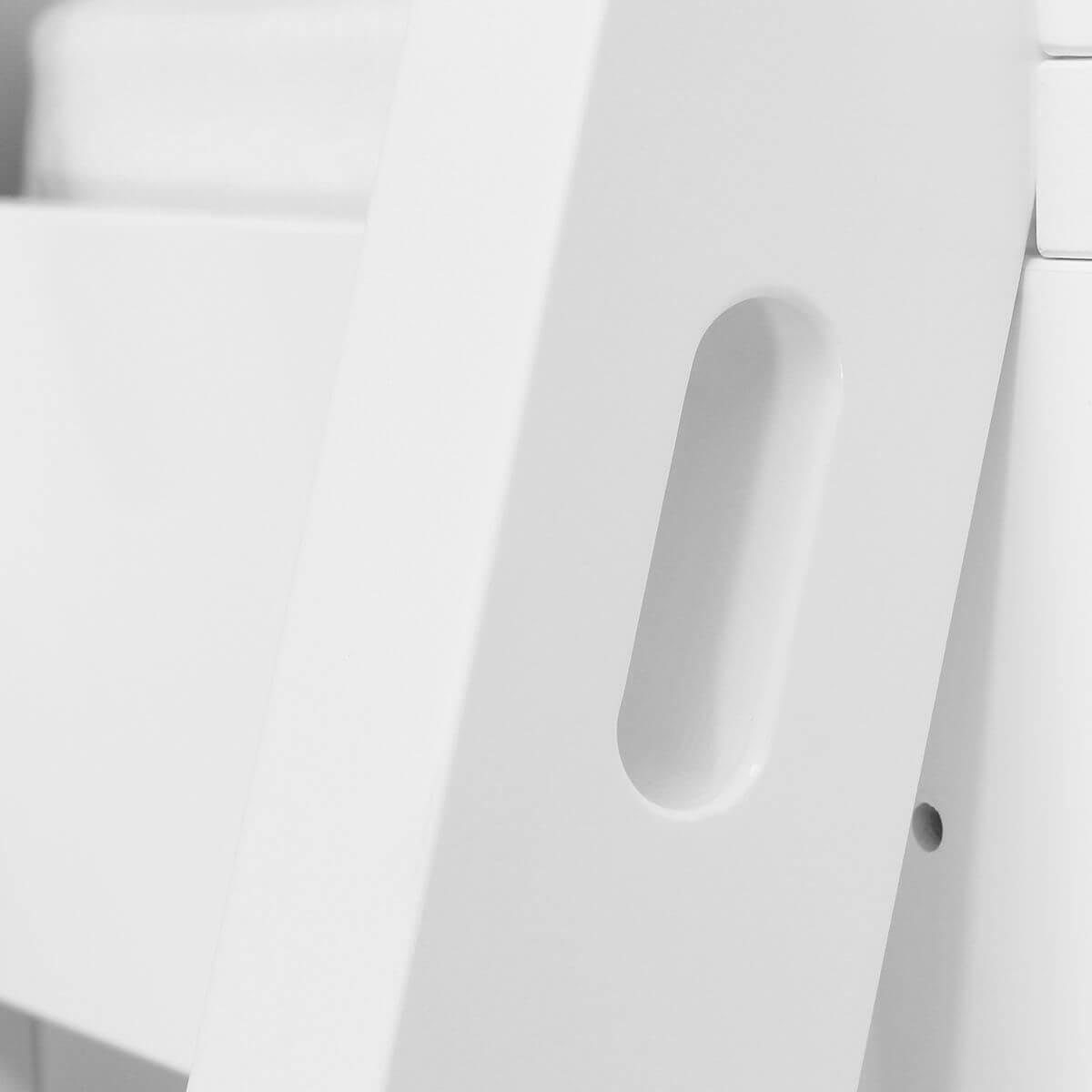 Cama evolutiva semi alta 90x200cm escalera inclinada NORDIC de Bopita blanco