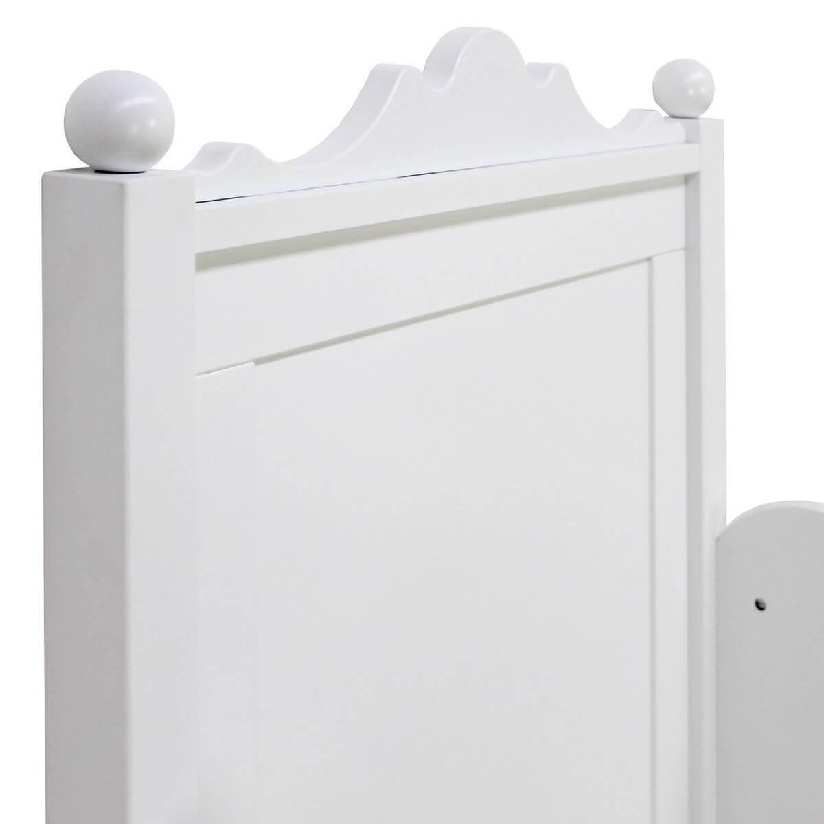 Cama individual 90x200cm BELLE Bopita blanco