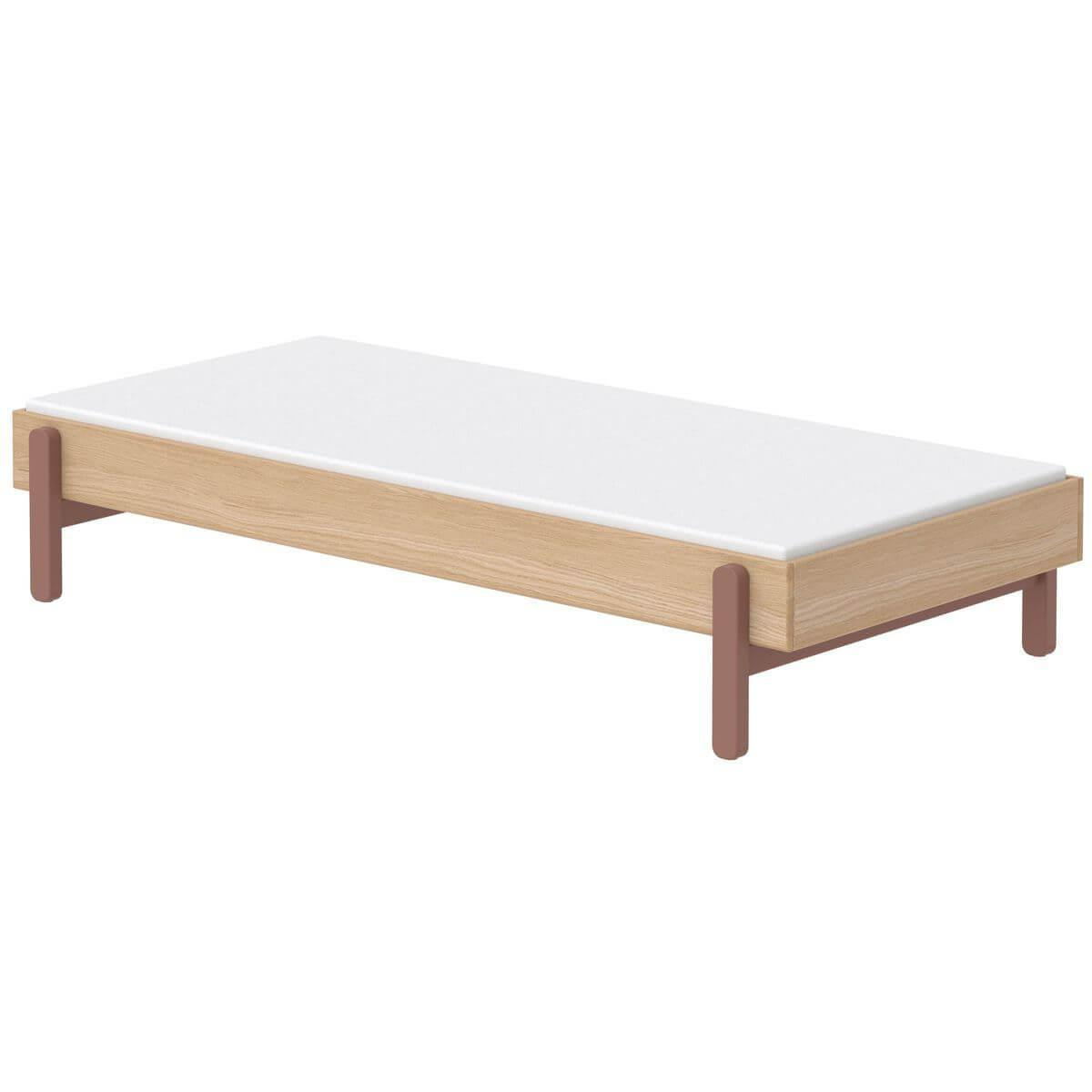 Cama individual 90x200cm POPSICLE Flexa roble-cherry