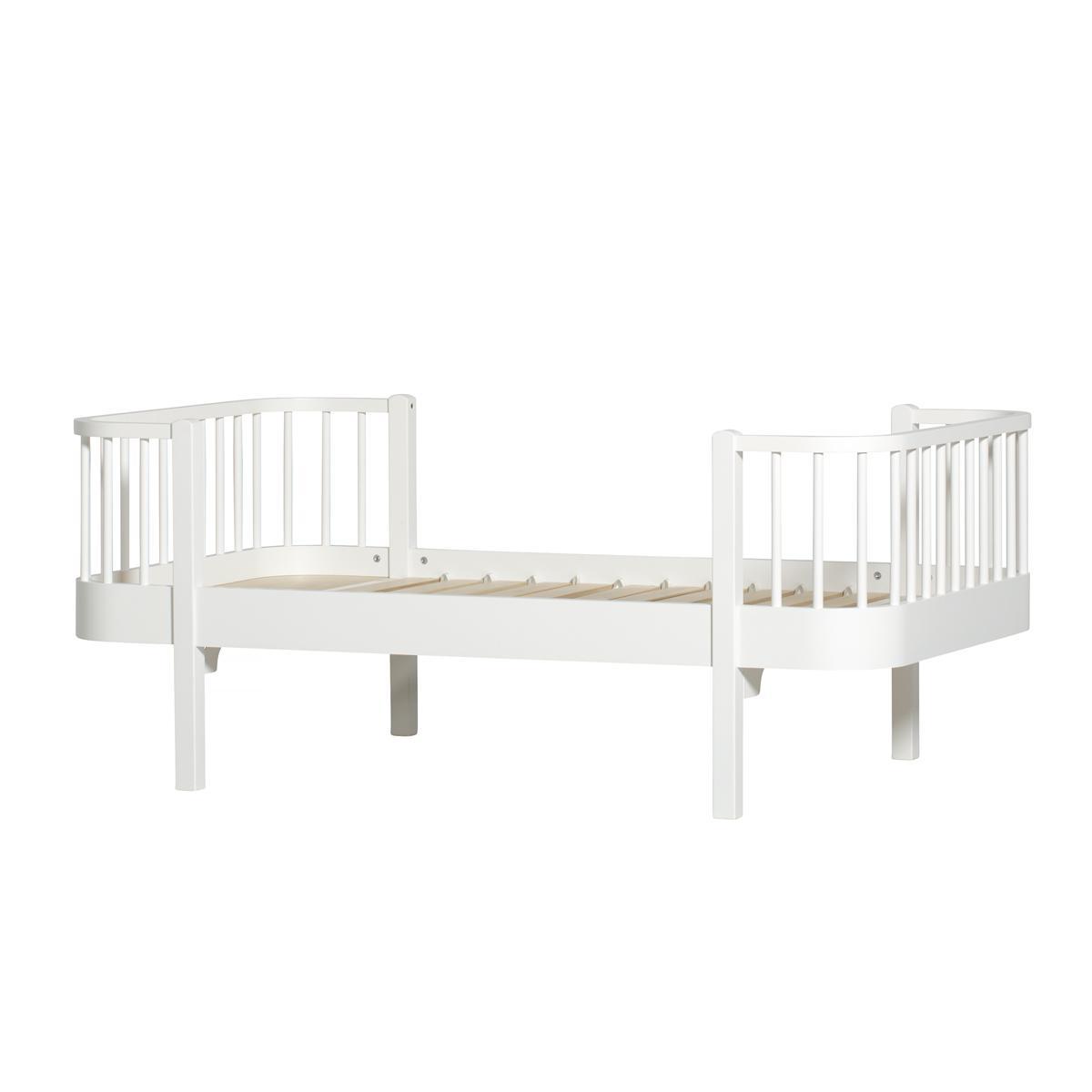 Cama individual evolutiva 90x160cm WOOD Oliver Furniture blanco