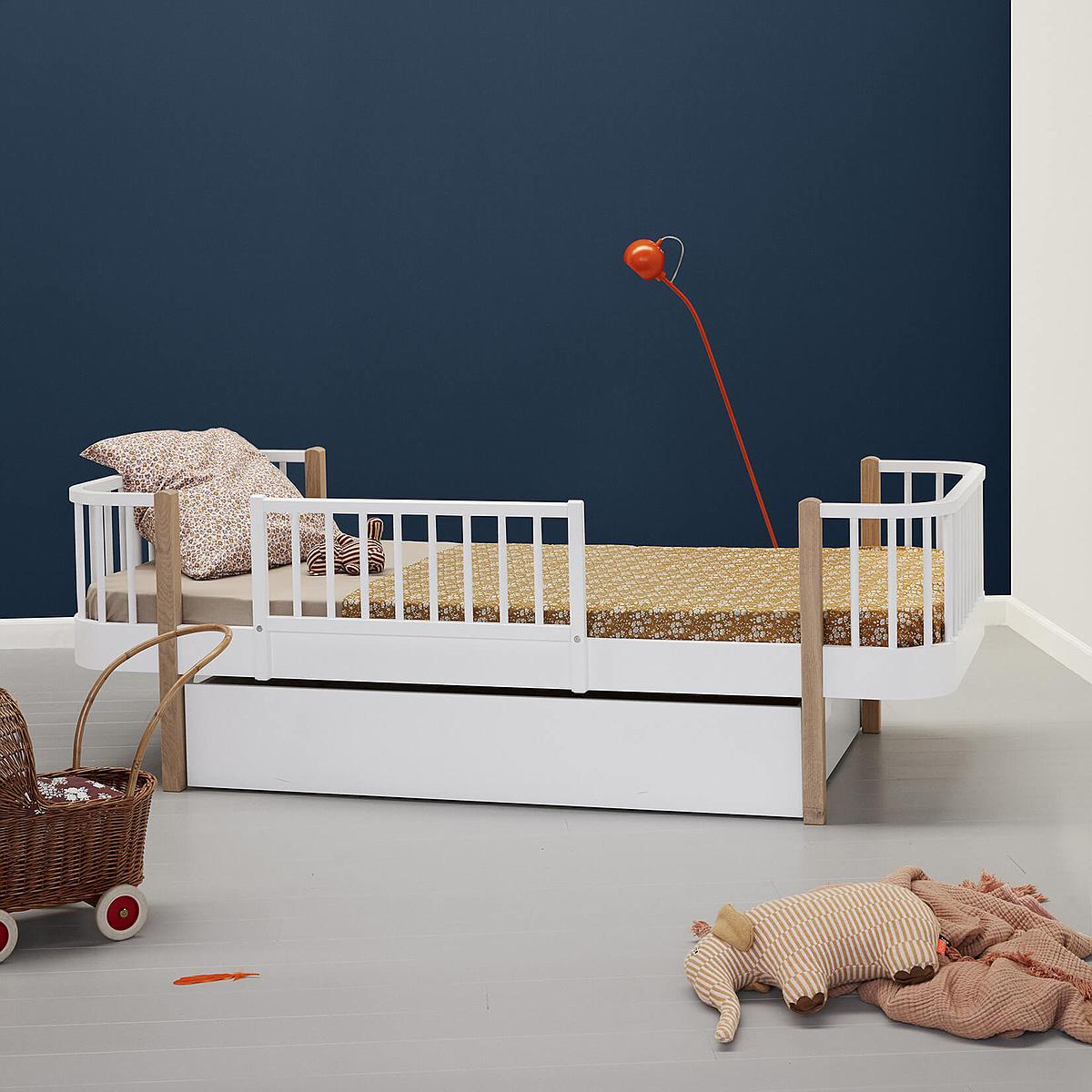 Cama individual evolutiva 90x200cm WOOD ORIGINAL Oliver Furniture blanco