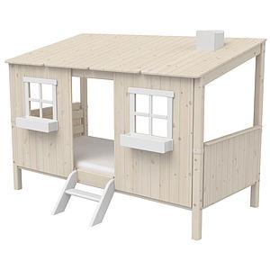 Cama individual evolutiva cabaña 90x200cm 1/1 PLAY HOUSE CLASSIC Flexa blanco cal