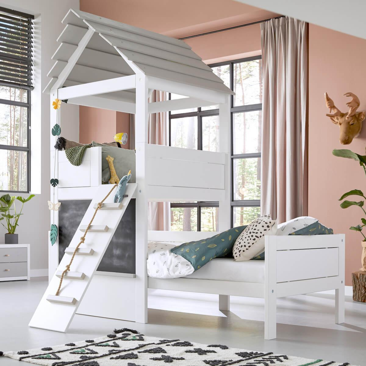 Cama individual PLAY TOWER Lifetime white-grey wash