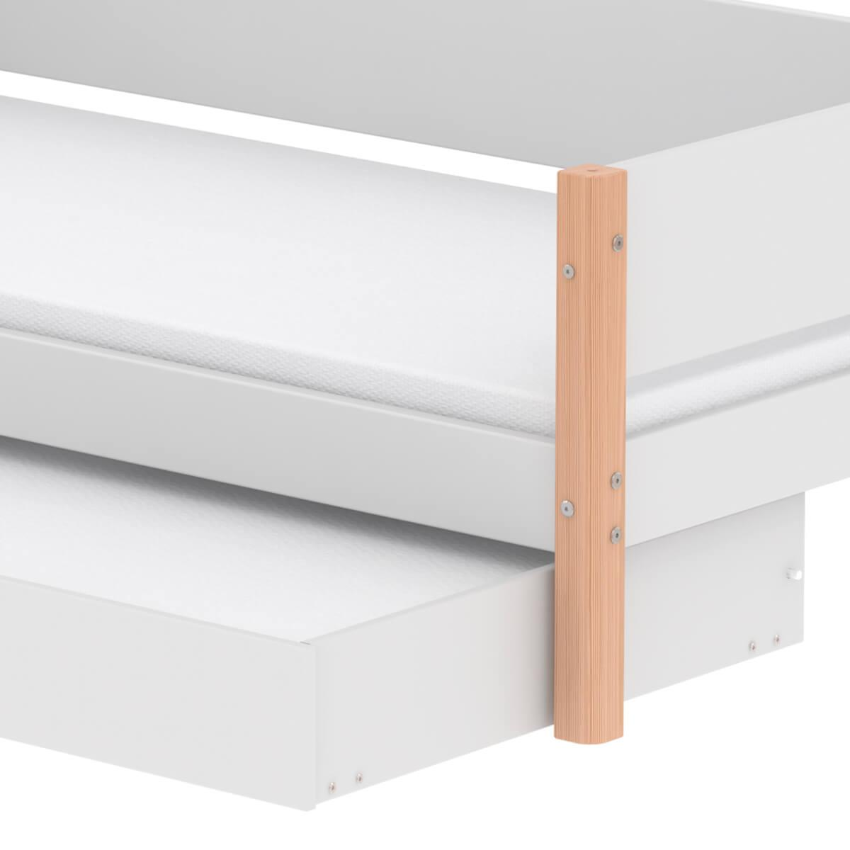 Cama infantil 90x190cm nido WHITE Flexa natural-blanco