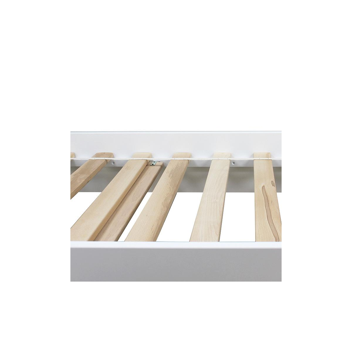 Cama infantil 90x200cm LYNN BOPITA blanco / natural