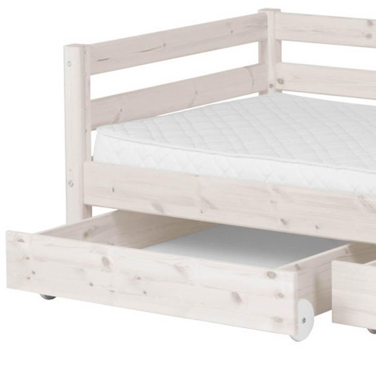 Cama infantil con 2 cajones 90x190 CLASSIC Flexa blanco cal
