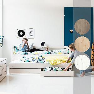 Cama infantil con 2 cajones 90x190 CLASSIC Flexa terra