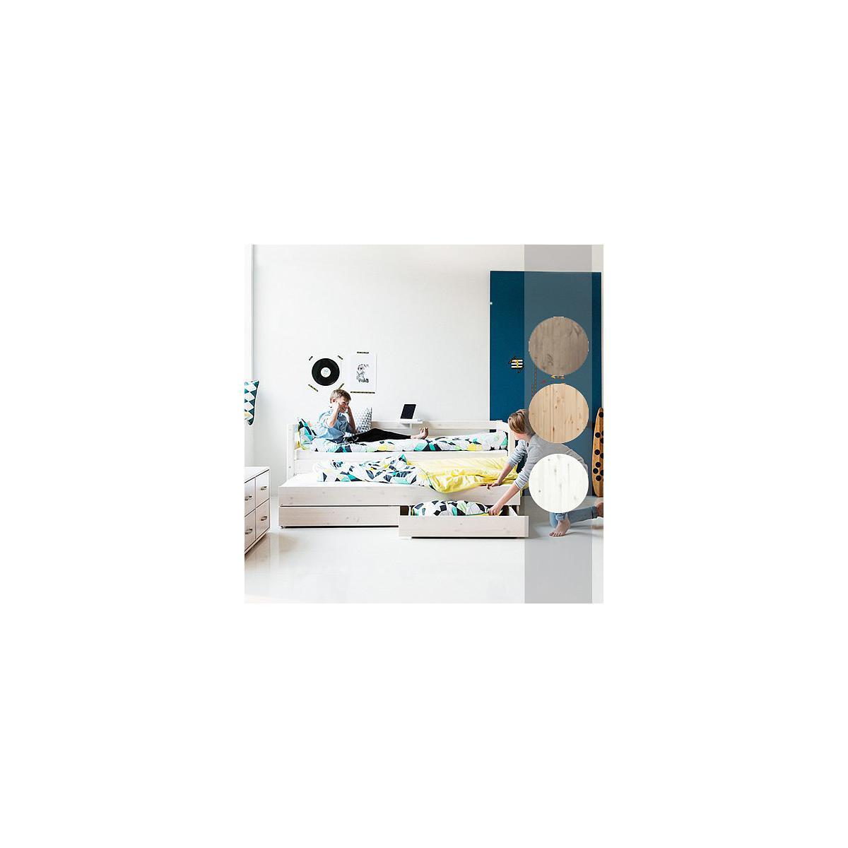 Cama infantil con 2 cajones 90x200 CLASSIC Flexa blanco cal