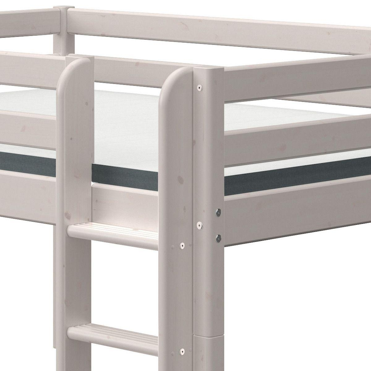Cama media alta 140x190cm escalera recta CLASSIC Flexa grey washed