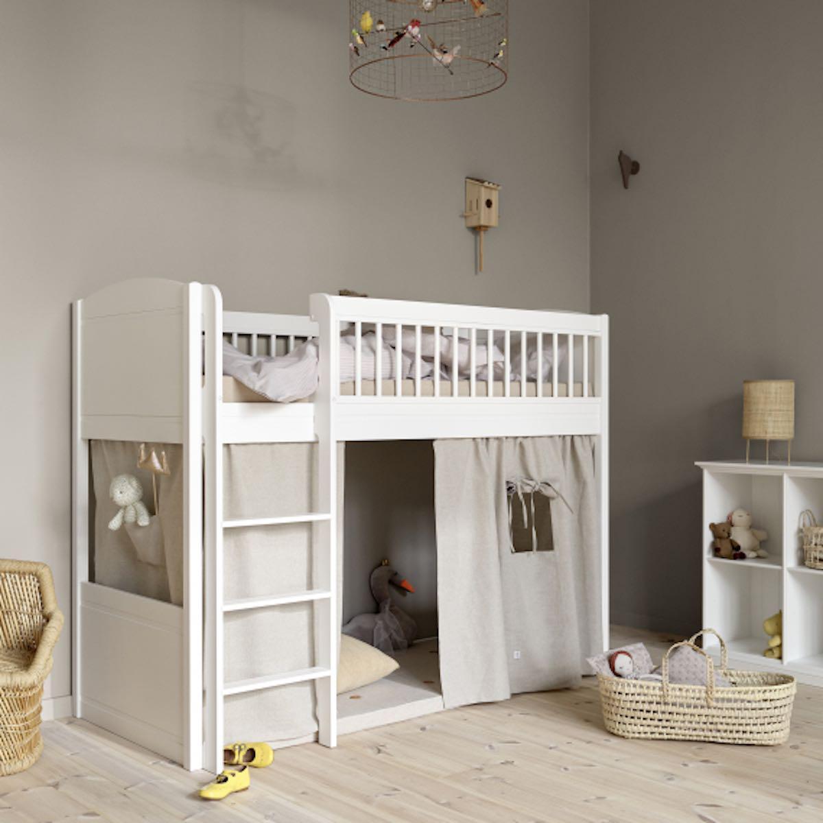 Cama media-alta 68x168cm SEASIDE LILLE+ Oliver Furniture blanco