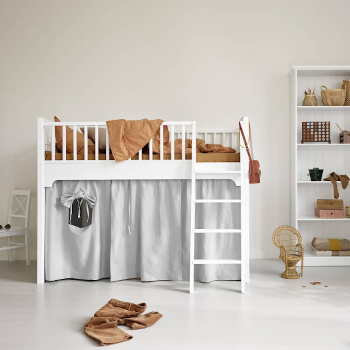 Cama media-alta 90x160cm SEASIDE CLASSIC Oliver Furniture blanco