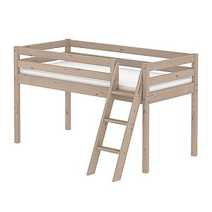 Cama media alta 90x190 CLASSIC Flexa escalera inclinada terra
