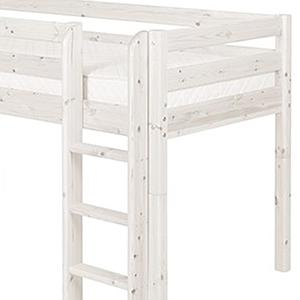 Cama media alta 90x190 CLASSIC Flexa escalera recta blanco cal
