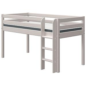 Cama media alta 90x190cm escalera recta CLASSIC Flexa grey washed