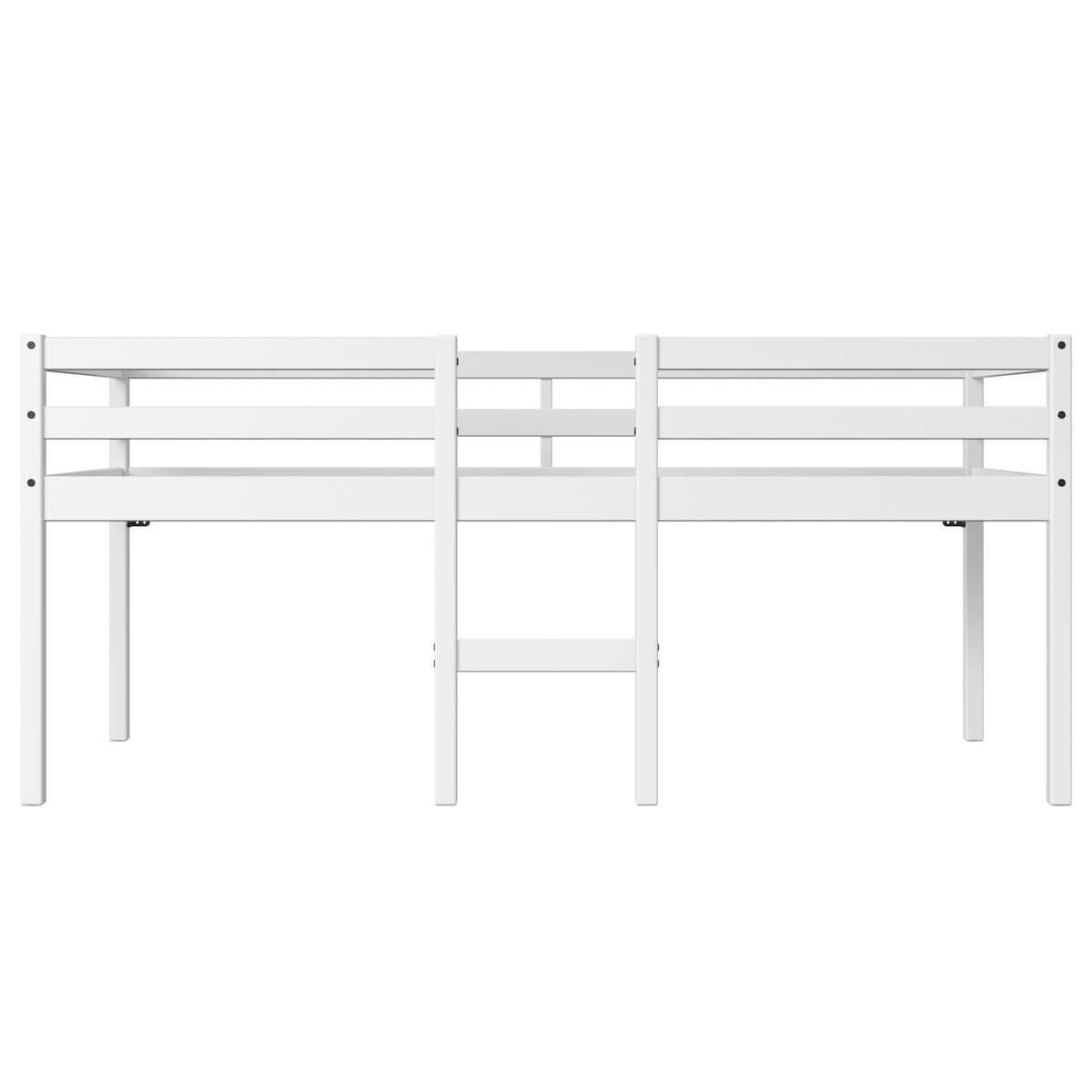 Cama media alta 90x200cm ALFRED Flexa blanco