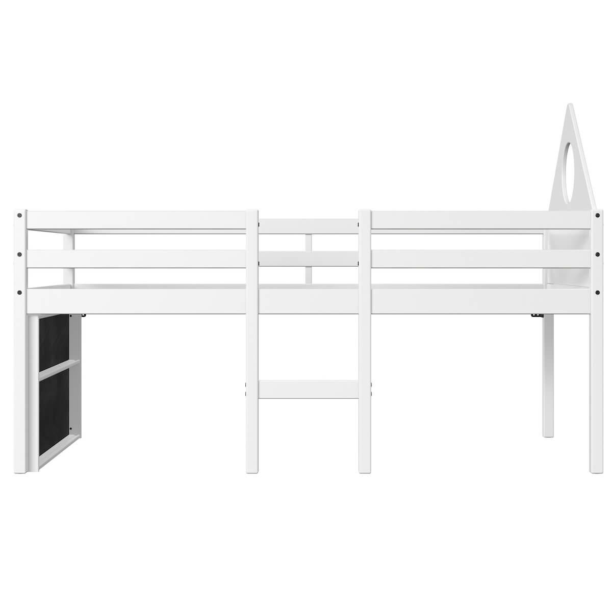 Cama media alta 90x200cm cabecera-pizarra ALFRED Flexa blanco
