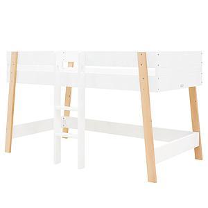 Cama media alta 90x200cm LISA Bopita blanco-natural