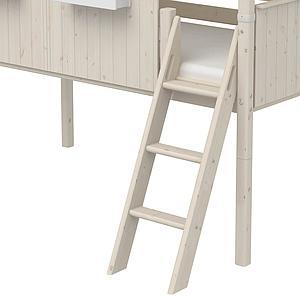 Cama media alta evolutiva cabaña 90x200cm 1/1 PLAY HOUSE CLASSIC Flexa blanco cal-blanco