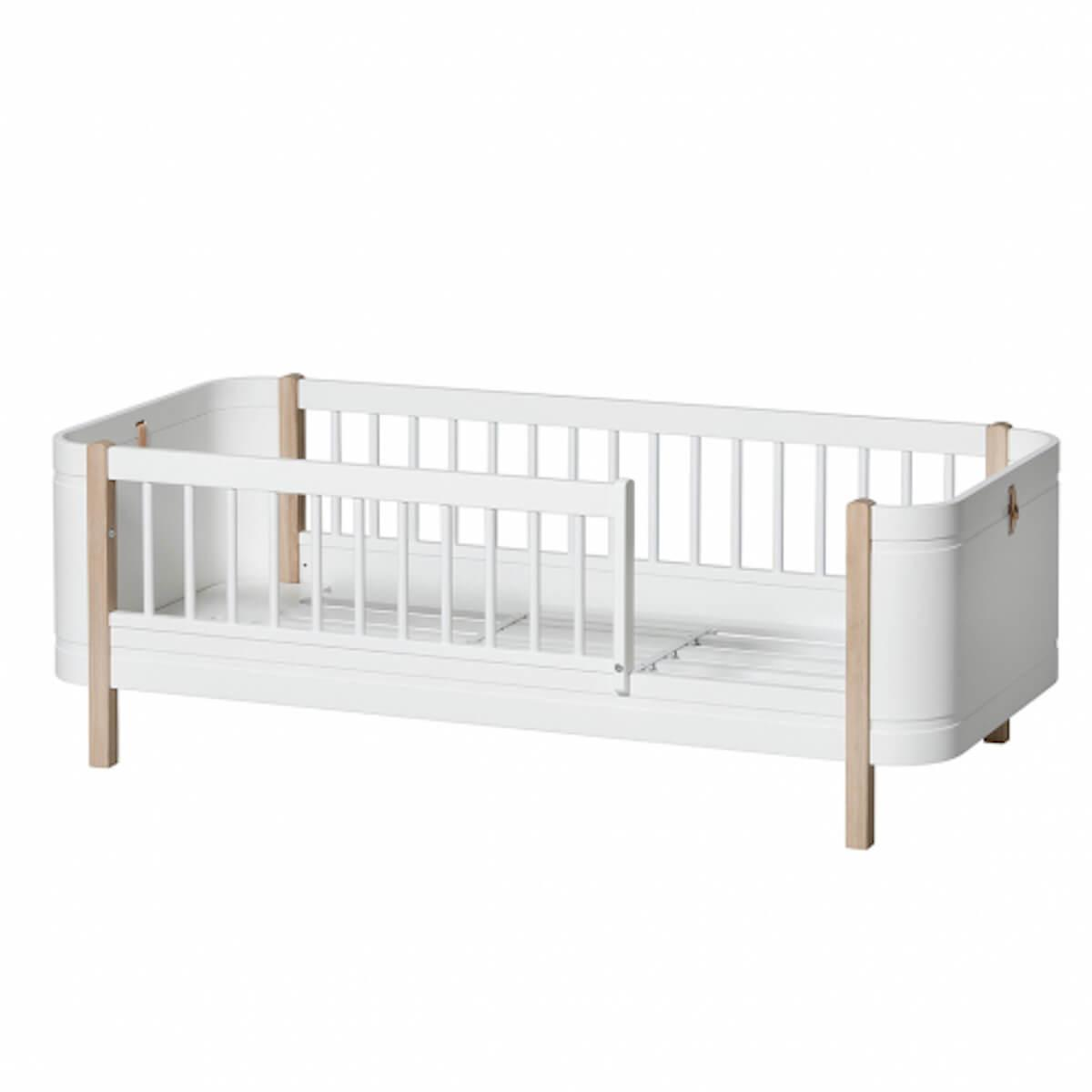 Cama Mini+ 68x162cm Oliver Furniture blanco-roble