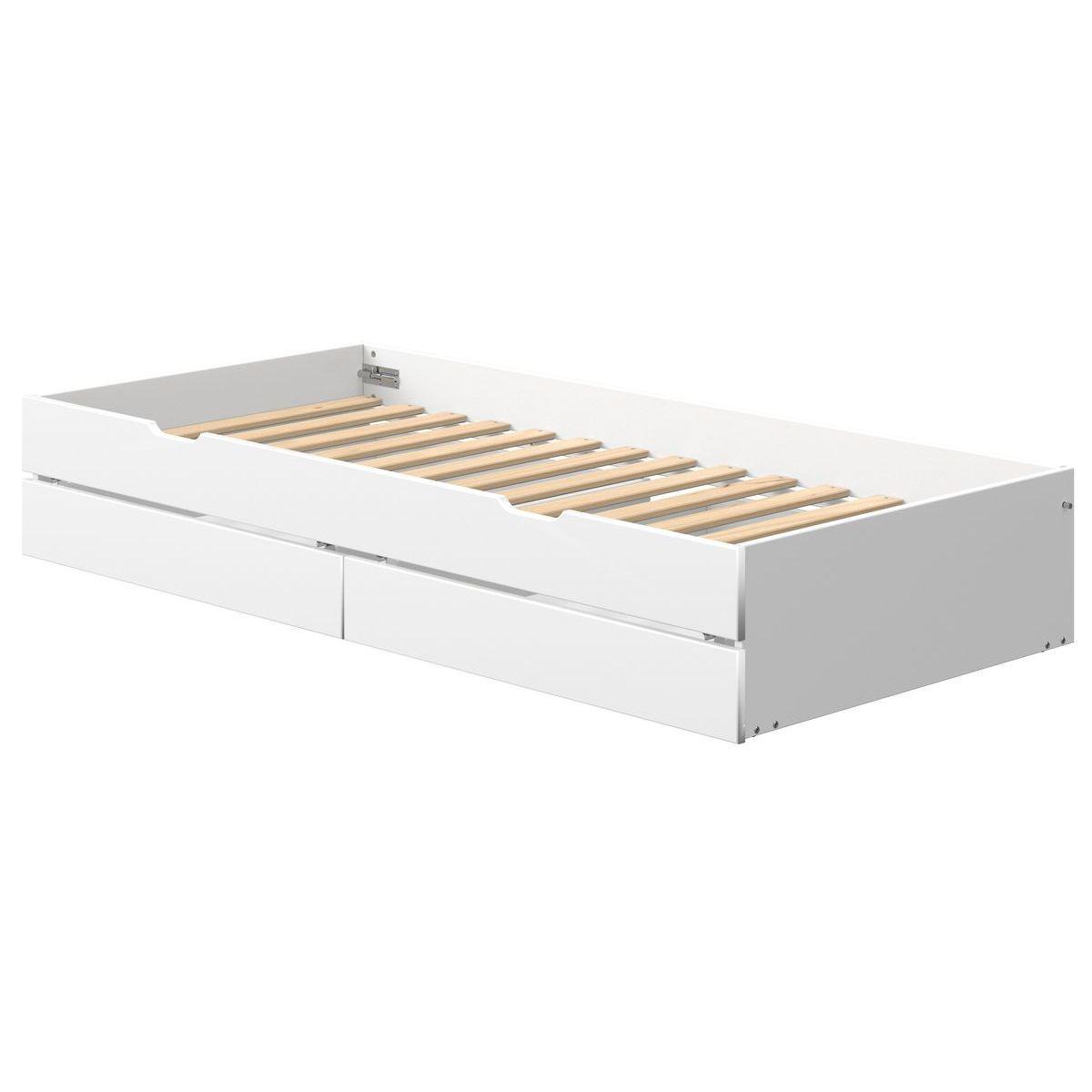 Cama nido-2 cajones 190cm NOR Flexa blanco