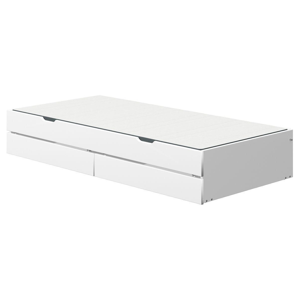 Cama nido-2 cajones 200cm NOR Flexa blanco