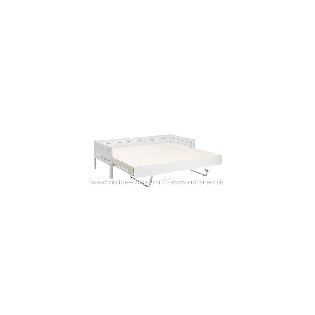 Cama nido-con láminas 90x200cm Lifetime blanco