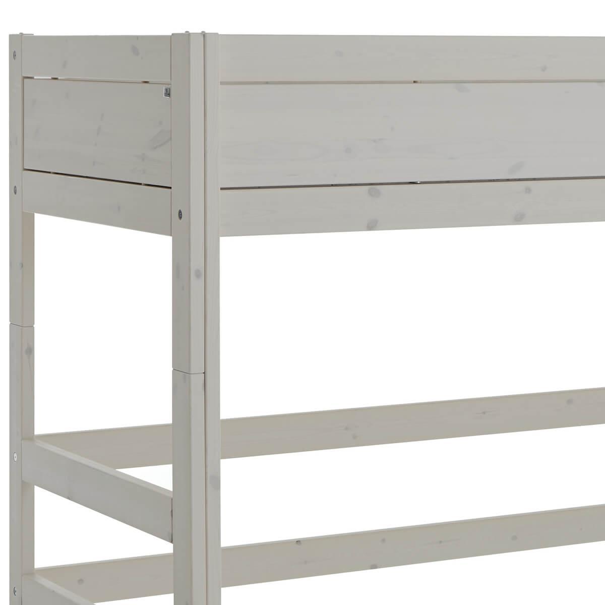 Cama semi alta 90x200cm escalera inclinada Lifetime gris