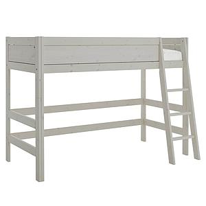 Cama semi alta 90x200cm escalera inclinada Lifetime gris