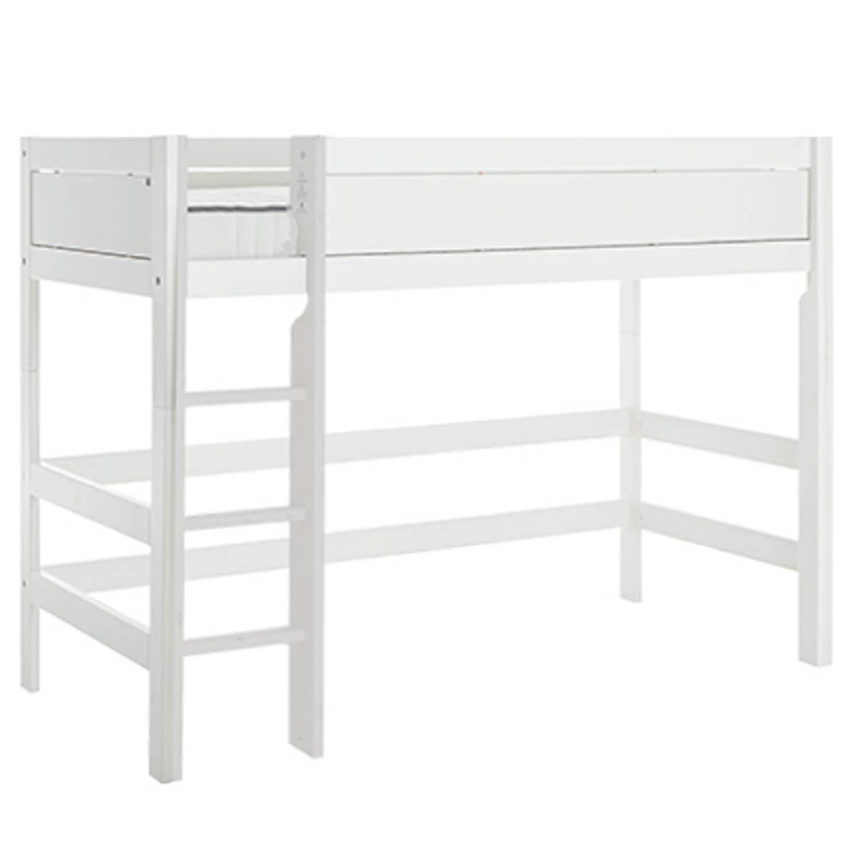 Cama semi alta 90x200cm escalera recta Lifetime blanco