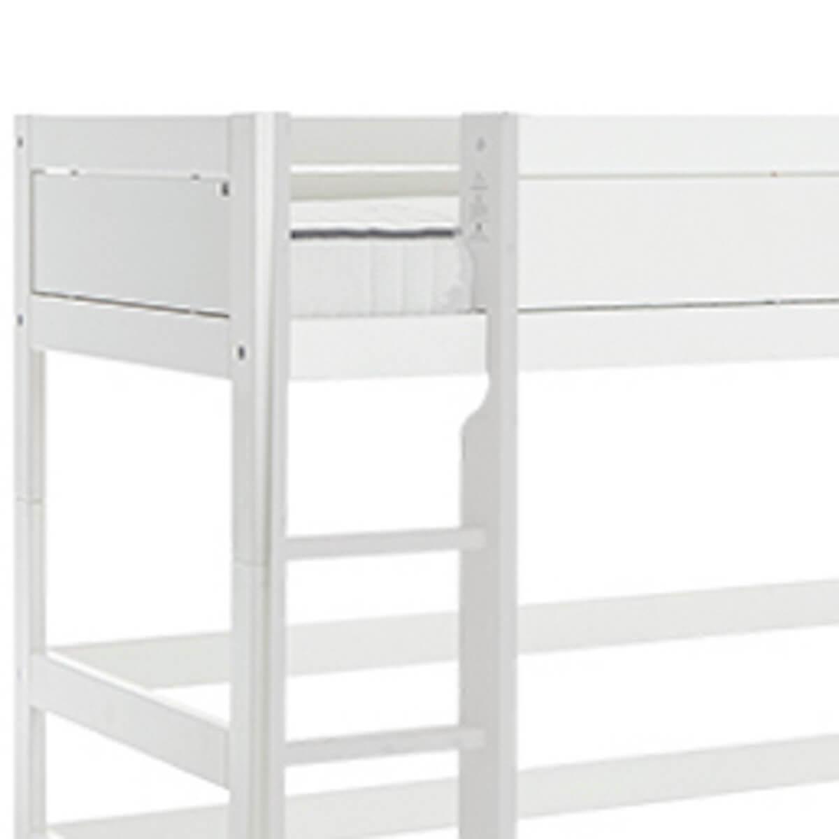 Cama semi alta 90x200cm escalera recta Lifetime blanco
