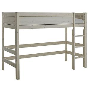 Cama semi alta 90x200cm escalera recta Lifetime gris