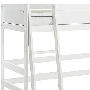 Cama semi alta-escalera inclinada Lifetime blanco