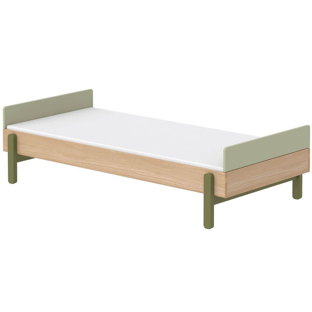 Cama simple 90x200cm POPSICLE Flexa roble-kiwi