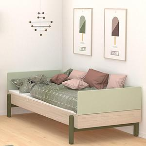 Cama-sofá 120x200cm POPSICLE Flexa roble-cherry