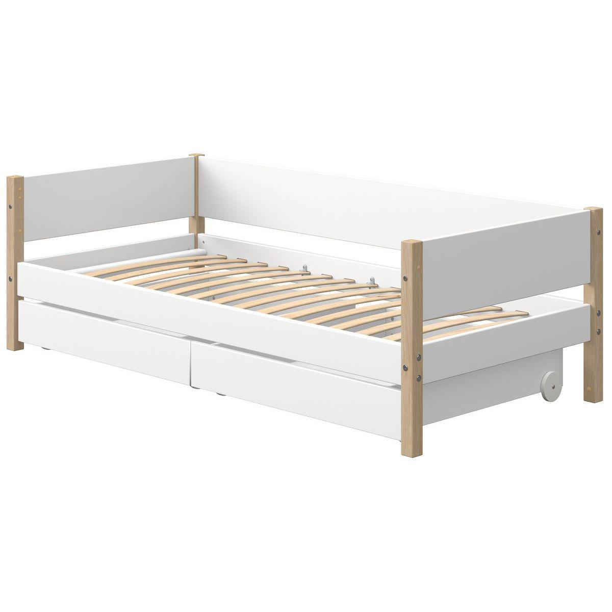 Cama-sofá 90x190cm 2 cajones NOR Flexa roble-blanco