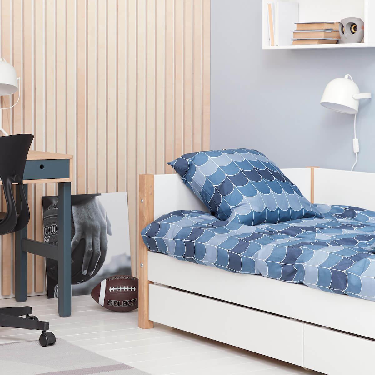 Cama-sofá 90x190cm 2 cajones NOR Flexa roble-blanco