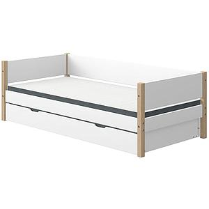 Cama-sofá 90x190cm cama nido NOR Flexa roble-blanco