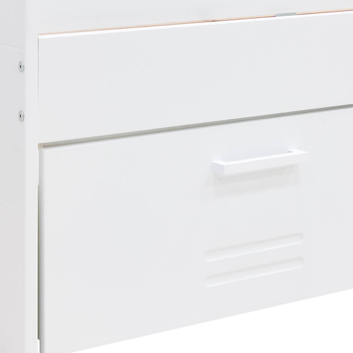 Cama-sofá 90X200cm 3 cajones LOCKER Bopita blanco