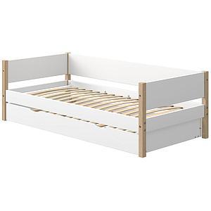 Cama-sofá 90x200cm cama nido NOR Flexa roble-blanco