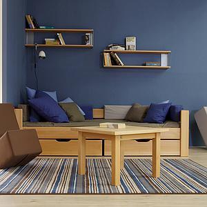 Cama sofá 90x200cm Max DELUXE de Breuyn haya aceitada