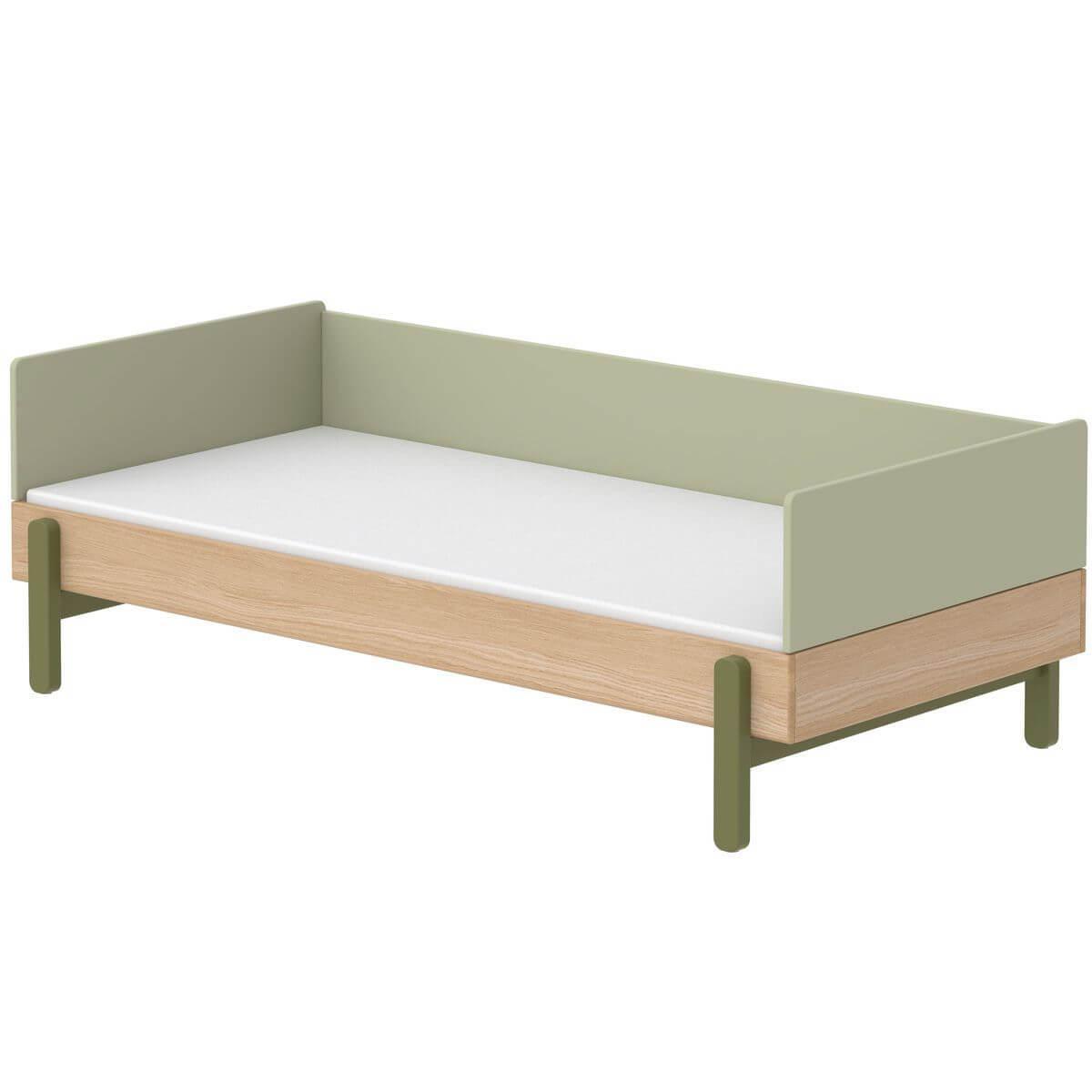 Cama-sofá 90x200cm POPSICLE Flexa roble-kiwi